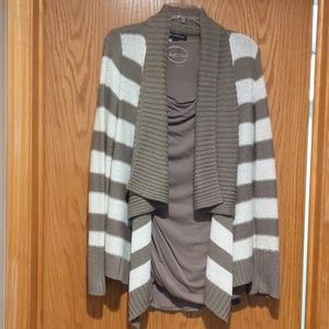 INC sweater and ruched top